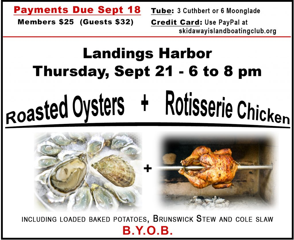 Sept 21 - Oysters & Chicken at Landings Harbor