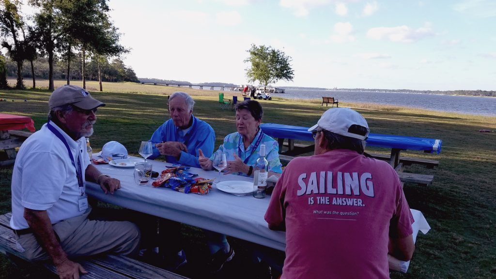 SIBC Games Day, May 18, 2017, Members eat and play at Landings Harbor