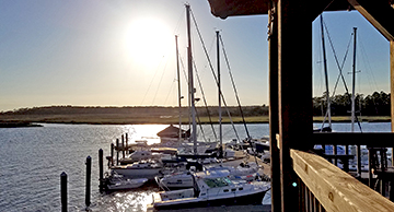SIBC, Skidaway Island Boating Club, Dock Party, Another gorgeous sunset at Delegal Creek Marina