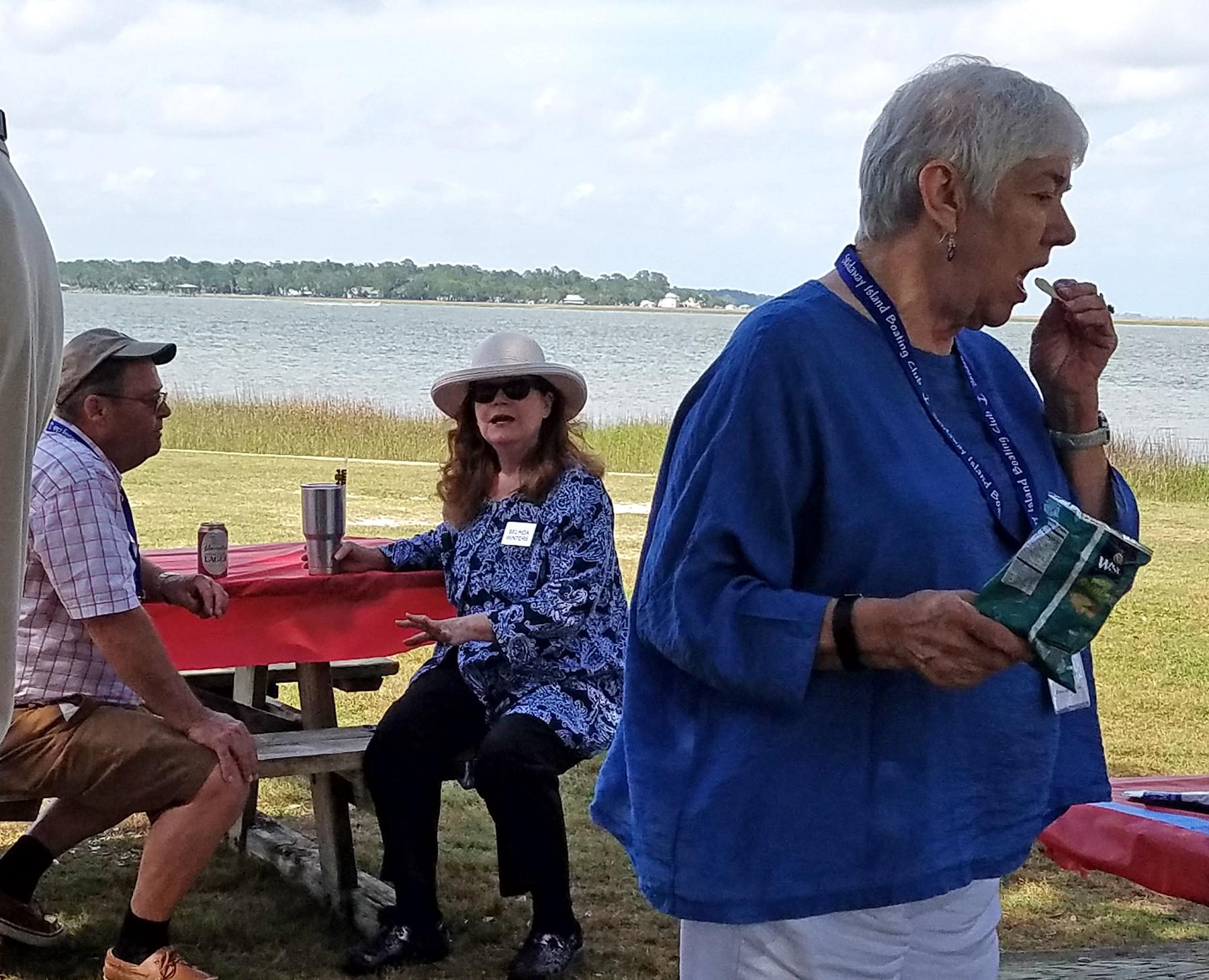SIBC Games Day, May 18, 2017, Members eat and play at Landings Harbor